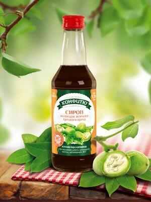 Сироп из плодов зеленого грецкого ореха
